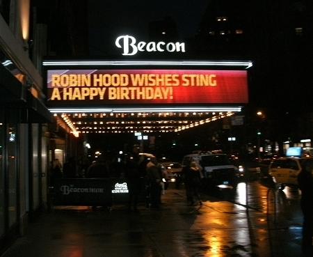 Resultado de imagen de Sting - Live 60th birthday concert NY Beacon Theatre 1 october 2011