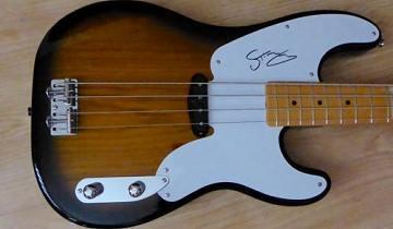 Bid For A Signed Signature Fender Precision Bass Guitar